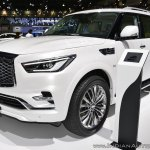 2018 Infiniti QX80 at Dubai Motor Show 2017 front angle