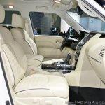 2018 Infiniti QX80 at Dubai Motor Show 2017 front seat