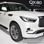 2018 Infiniti QX80 at Dubai Motor Show 2017 front three quarters