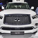 2018 Infiniti QX80 at Dubai Motor Show 2017 front