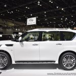 2018 Infiniti QX80 at Dubai Motor Show 2017 left side view