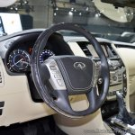 2018 Infiniti QX80 at Dubai Motor Show 2017 steering wheel