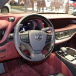 2018 Lexus LS dashboard at 2017 Dubai Motor Show