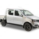 2018 Mahindra Genio dual cab variant front angle