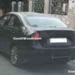 2018 Maruti Ciaz (facelift) rear three quarters left side spy shot