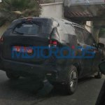 2018 Maruti Ertiga spy picture rear angle