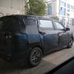 2018 Maruti Ertiga spy picture right rear three quarters