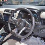 2018 Nissan Leaf dashboard at the 2017 Dubai Motor Show