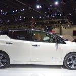 2018 Nissan Leaf profile at the 2017 Dubai Motor Show