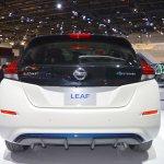 2018 Nissan Leaf rear at the 2017 Dubai Motor Show