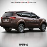2018 Nissan Paladin (Nissan Navara-based SUV) rear three quarters rendering