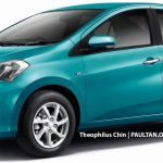 2018 Perodua Myvi sedan rendering front three quarters