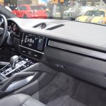 2018 Porsche Cayenne Turbo dashboard right side view at 2017 Dubai Motor Show