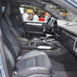 2018 Porsche Cayenne Turbo front seats right side view at 2017 Dubai Motor Show