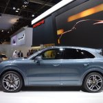 2018 Porsche Cayenne Turbo profile at 2017 Dubai Motor Show