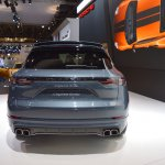 2018 Porsche Cayenne Turbo rear at 2017 Dubai Motor Show