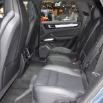 2018 Porsche Cayenne Turbo rear seats at 2017 Dubai Motor Show