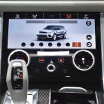 2018 Range Rover Sport SVR Touch Pro Duo infotainment system lower display at 2017 Dubai Motor Show