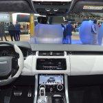 2018 Range Rover Sport SVR dashboard at 2017 Dubai Motor Show