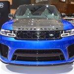 2018 Range Rover Sport SVR front at 2017 Dubai Motor Show