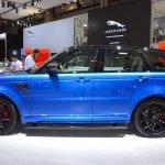 2018 Range Rover Sport SVR profile at 2017 Dubai Motor Show