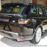 2018 Range Rover Sport at Dubai Motor Show 2017 rear three quarters