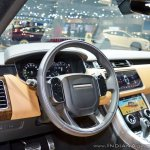 2018 Range Rover Sport at Dubai Motor Show 2017 steering wheel