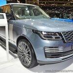 2018 Range Rover at Dubai Motor Show 2017 front angle