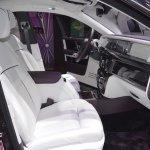 2018 Rolls-Royce Phantom EWB front seats passenger side view at 2017 Dubai Motor Show