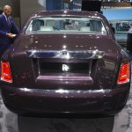 2018 Rolls-Royce Phantom EWB rear at 2017 Dubai Motor Show