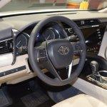 2018 Toyota Camry Hybrid dashboard at 2017 Dubai Motor Show