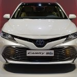 2018 Toyota Camry Hybrid front at 2017 Dubai Motor Show