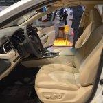 2018 Toyota Camry Hybrid front seats at 2017 Dubai Motor Show