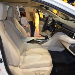 2018 Toyota Camry Hybrid front seats passenger side view at 2017 Dubai Motor Show