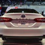 2018 Toyota Camry Hybrid rear at 2017 Dubai Motor Show