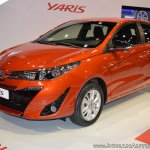 2018 Toyota Yaris at Dubai Motor Show 2017 three quarters