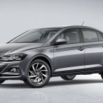 2018 VW Virtus (Polo based sedan) front three quarters