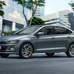 2018 VW Virtus (Polo based sedan) three quarters