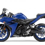 2018 Yamaha YZF-R3 press shot left side