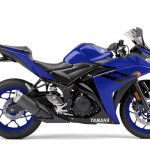2018 Yamaha YZF-R3 press shot right side