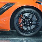 2019 Chevrolet Corvette ZR1 front wheel at 2017 Dubai Motor Show