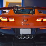 2019 Chevrolet Corvette ZR1 rear at 2017 Dubai Motor Show