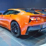 2019 Chevrolet Corvette ZR1 rear three quarters left side at 2017 Dubai Motor Show