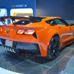 2019 Chevrolet Corvette ZR1 rear three quarters right side at 2017 Dubai Motor Show