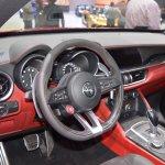 Alfa Romeo Stelvio Quadrifoglio dashboard at 2017 Dubai Motor Show