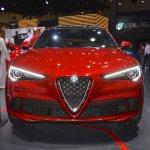 Alfa Romeo Stelvio Quadrifoglio front at 2017 Dubai Motor Show