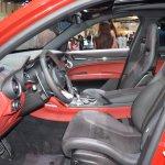 Alfa Romeo Stelvio Quadrifoglio front seats at 2017 Dubai Motor Show