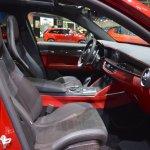 Alfa Romeo Stelvio Quadrifoglio front seats passenger side view at 2017 Dubai Motor Show