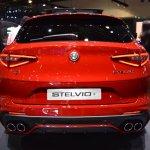 Alfa Romeo Stelvio Quadrifoglio rear at 2017 Dubai Motor Show