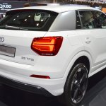 Audi Q2 rear three quarters at 2017 Dubai Motor Show